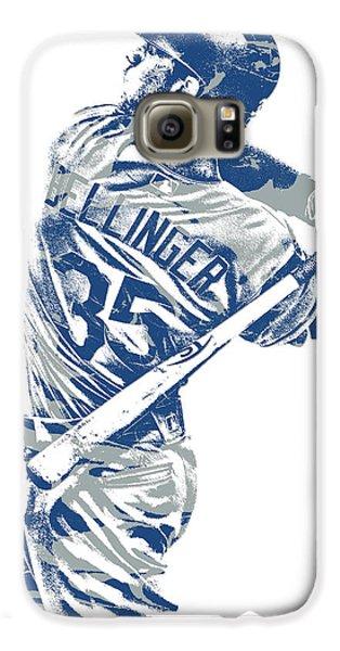 Los Angeles Dodgers Galaxy S6 Case - Cody Bellinger Los Angeles Dodgers Pixel Art 10 by Joe Hamilton