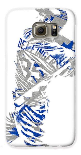 Los Angeles Dodgers Galaxy S6 Case - Cody Bellinger Los Angeles Dodgers Pixel Art 2 by Joe Hamilton