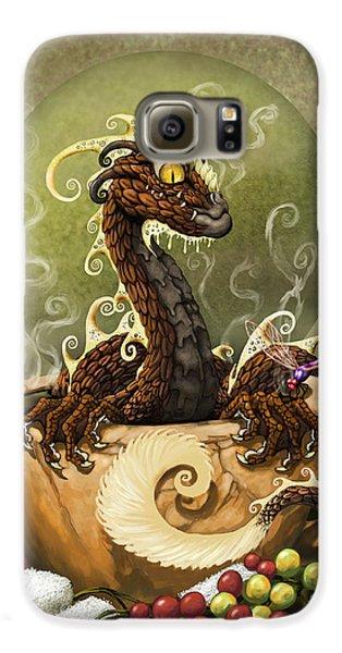 Dragon Galaxy S6 Case - Coffee Dragon by Stanley Morrison