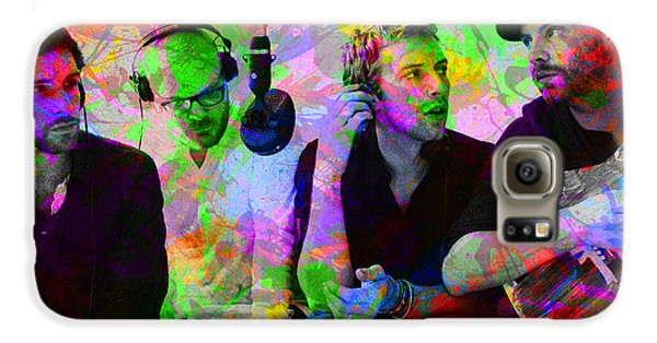 Coldplay Band Portrait Paint Splatters Pop Art Galaxy S6 Case