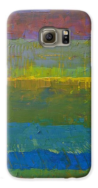 Galaxy S6 Case featuring the painting Color Collage Five by Michelle Calkins