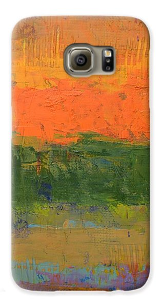 Galaxy S6 Case featuring the painting Color Collage Four by Michelle Calkins