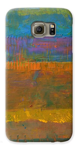 Galaxy S6 Case featuring the painting Color Collage One by Michelle Calkins