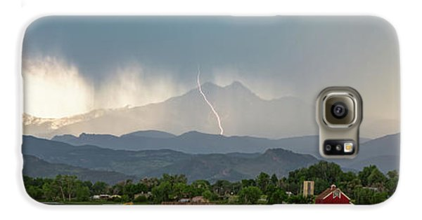 Galaxy S6 Case featuring the photograph Colorado Front Range Lightning And Rain Panorama View by James BO Insogna