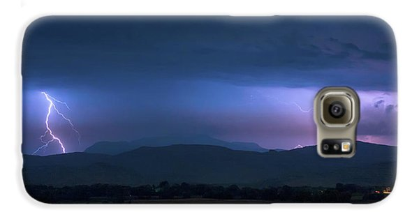 Galaxy S6 Case featuring the photograph Colorado Rocky Mountain Foothills Storm by James BO Insogna