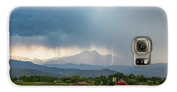 Galaxy S6 Case featuring the photograph Colorado Rocky Mountain Red Barn Country Storm by James BO Insogna