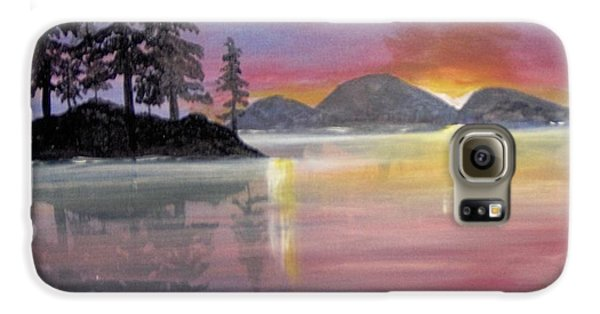 Galaxy S6 Case featuring the painting Colored Lake by Saundra Johnson