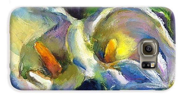Colorful Galaxy S6 Case - Colorful Calla Flowers Painting By by Svetlana Novikova