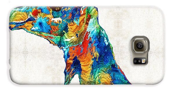 Colorful Camel Art By Sharon Cummings Galaxy S6 Case