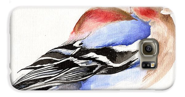 Colorful Chaffinch Galaxy S6 Case by Nancy Moniz
