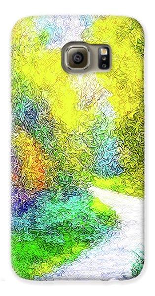 Colorful Garden Pathway - Trail In Santa Monica Mountains Galaxy S6 Case