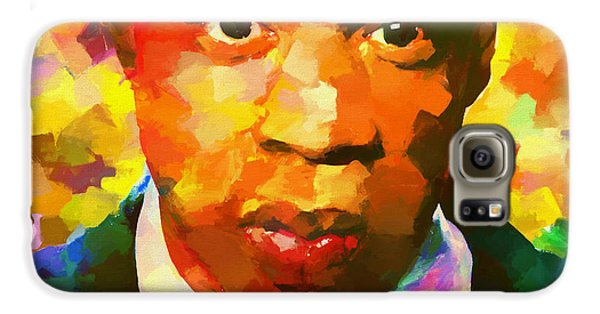 Colorful Jay Z Palette Knife Galaxy S6 Case by Dan Sproul