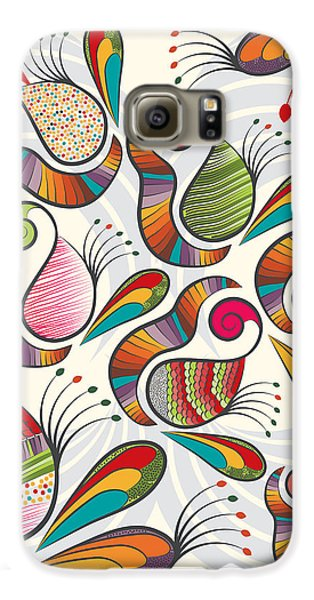 Colorful Paisley Pattern Galaxy S6 Case by Famenxt DB