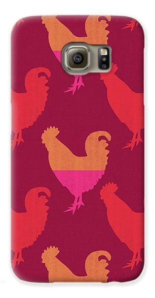 Colorful Roosters- Art By Linda Woods Galaxy S6 Case by Linda Woods