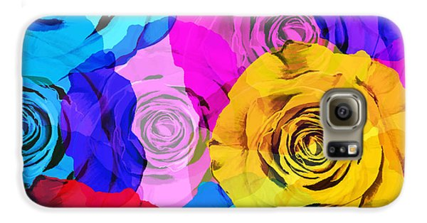 Rose Galaxy S6 Case - Colorful Roses Design by Setsiri Silapasuwanchai