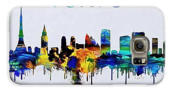Colorful Tokyo Skyline Silhouette Galaxy S6 Case by Dan Sproul