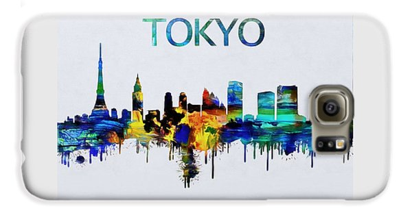 Tokyo Skyline Galaxy S6 Case - Colorful Tokyo Skyline Silhouette by Dan Sproul