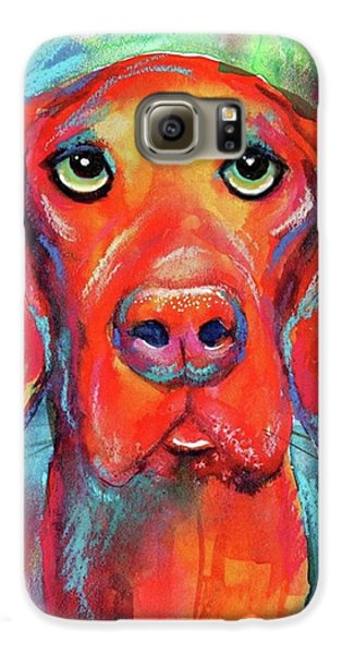 Colorful Vista Dog Watercolor And Mixed Galaxy S6 Case