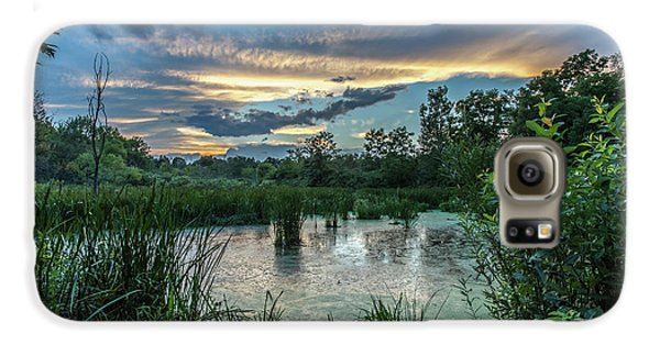 Columbia Marsh Sunset Galaxy S6 Case