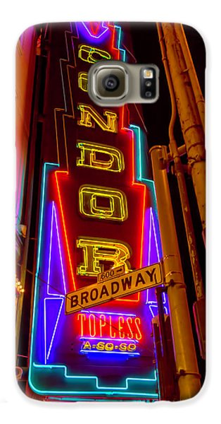 Condor Neon On Broadway Galaxy S6 Case