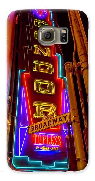 Condor Neon On Broadway Galaxy S6 Case