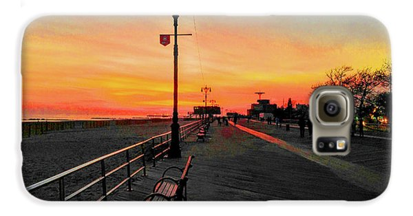 Coney Island Boardwalk Sunset Galaxy S6 Case