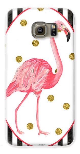 Contemporary Flamingos 2 Galaxy S6 Case by Debbie DeWitt