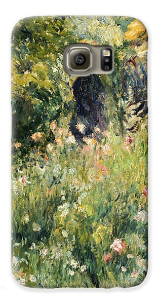 Garden Galaxy S6 Case - Conversation In A Rose Garden by Pierre Auguste Renoir