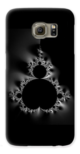 Cool Black And White Mandelbrot Set Galaxy S6 Case