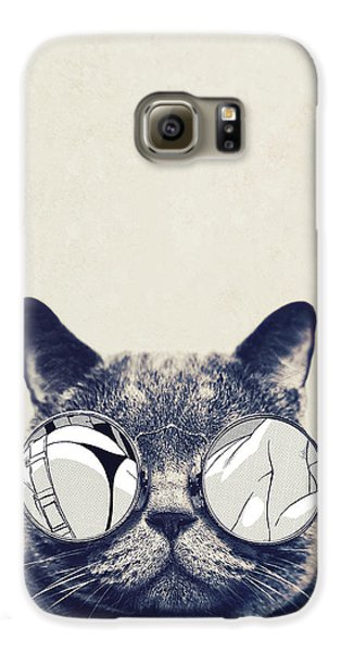 Cool Cat Galaxy S6 Case by Vitor Costa
