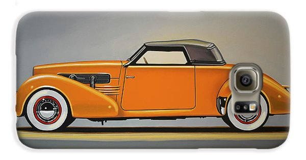 Automobile Galaxy S6 Case - Cord 810 1937 Painting by Paul Meijering