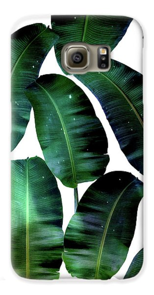 Cosmic Banana Leaves Galaxy S6 Case by Uma Gokhale