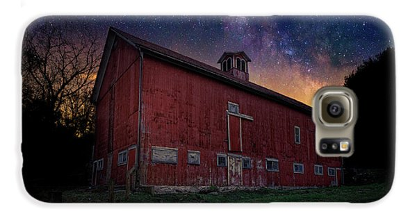 Galaxy S6 Case featuring the photograph Cosmic Barn by Bill Wakeley