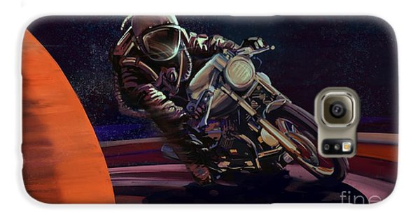Motorcycle Galaxy S6 Case - Cosmic Cafe Racer by Sassan Filsoof