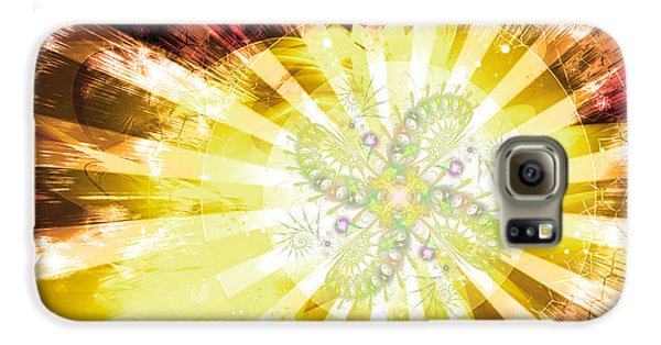 Cosmic Solar Flower Fern Flare 2 Galaxy S6 Case