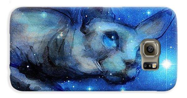 Galaxy S6 Case - Cosmic Sphynx Painting By Svetlana by Svetlana Novikova