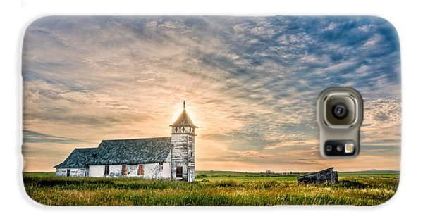 Country Church Sunrise Galaxy S6 Case