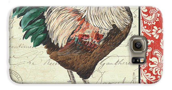 Country Rooster 1 Galaxy S6 Case by Debbie DeWitt