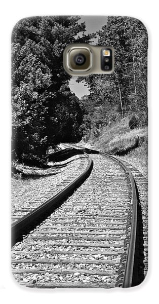 Country Tracks Black And White Galaxy S6 Case