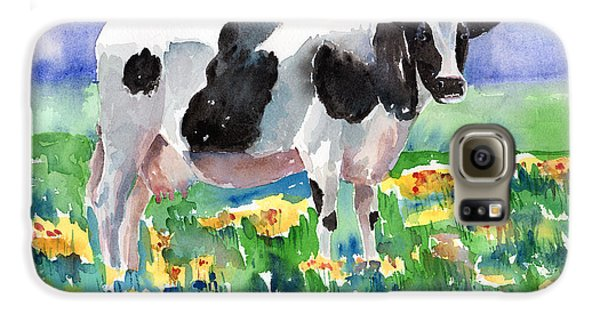 Cow In The Meadow Galaxy S6 Case by Arline Wagner