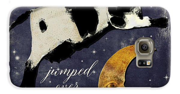 Cow Galaxy S6 Case - Cow Jumped Over The Moon by Mindy Sommers