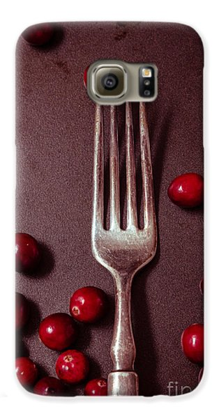Cranberries And Fork Galaxy S6 Case by Ana V Ramirez