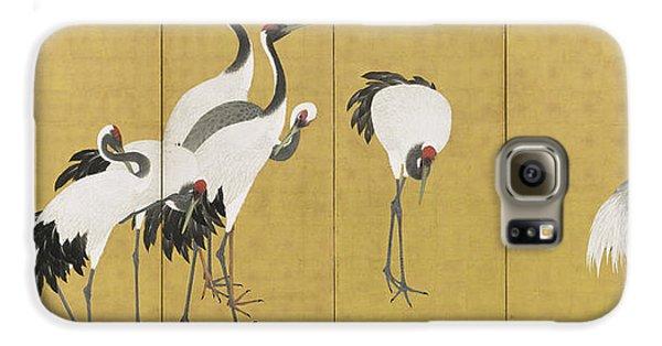 Cranes Galaxy S6 Case by Maruyama Okyo