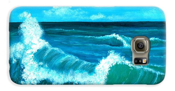 Galaxy S6 Case featuring the painting Crashing Wave by Anastasiya Malakhova
