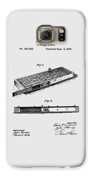 Cribbage Board 1879 Patent Art Transparent Galaxy S6 Case