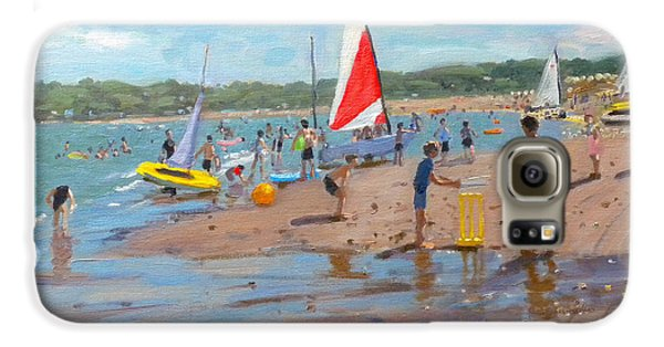 Cricket Galaxy S6 Case - Cricket And Red And White Sail by Andrew Macara