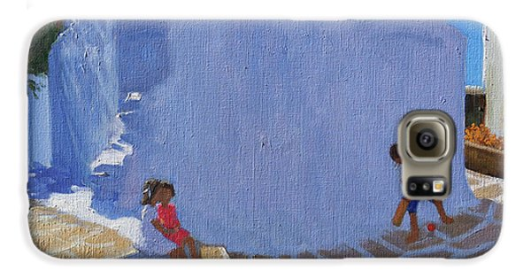Cricket Galaxy S6 Case - Cricket By The Church Wall, Mykonos  by Andrew Macara