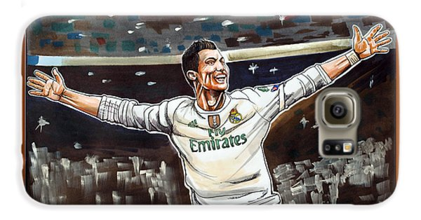 Cristiano Ronaldo Of Real Madrid Galaxy S6 Case by Dave Olsen