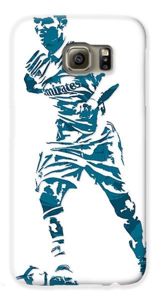 Cristiano Ronaldo Real Madrid Pixel Art 3 Galaxy S6 Case