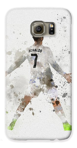 Cristiano Ronaldo Galaxy S6 Case by Rebecca Jenkins